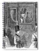 Train Travel: First Class Spiral Notebook