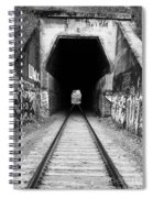 Train Tunnel At The Muir Trestle In Martinez California . 7d10235 . Black And White Spiral Notebook
