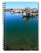 Tranquility At The Marina Spiral Notebook