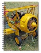 Travelling Pandas. Ready To Take Off. Oshkosh 2012 Spiral Notebook