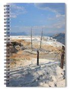 Travertine Limestone Terraces Spiral Notebook