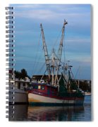 Trawler At Port Spiral Notebook