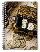 Treasure Box With Old Pistol Spiral Notebook