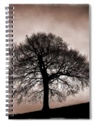 Tree Against A Stormy Sky Spiral Notebook
