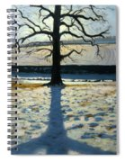 Tree And Shadow Calke Abbey Derbyshire Spiral Notebook