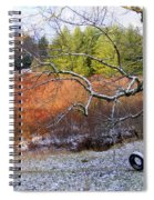 Tree And Tire Swing In Winter Spiral Notebook