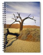 Tree In Desert Spiral Notebook