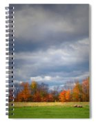 Tree Line On Sunset Hill In New Hampshire Spiral Notebook