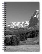 Treeline Across Alpi Di Siusi In The Dolomites Spiral Notebook