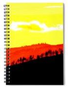Trees Along The Ridge Spiral Notebook