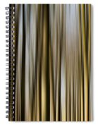 Trees In A Forest Blurred Spiral Notebook