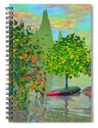 Trees On Rocks In A Lake Spiral Notebook