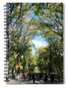 Trees On The Mall In Central Park Spiral Notebook