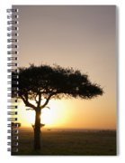 Trees On The Savannah With The Sun Spiral Notebook