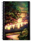 Trees Stained Glass Window Spiral Notebook