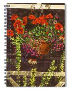 Trellis Flower Pot Spiral Notebook