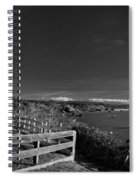Trinidad Memorial Lighthouse In Black And White Spiral Notebook