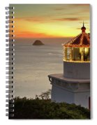 Trinidad Memorial Lighthouse Sunset Spiral Notebook