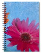 Triptych Gerbera Daisies-two Spiral Notebook