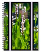 Triptych Of Water Hyacinth Spiral Notebook