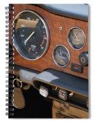 Triumph Tr 6 Dashboard Spiral Notebook