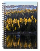 Trolling On Twin Lakes Spiral Notebook