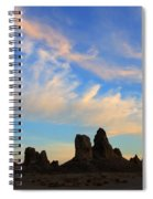 Trona Pinnacles At Sunset Spiral Notebook