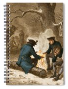 Troops At Valley Forge Spiral Notebook