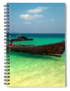 Tropical Boat Spiral Notebook