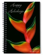 Tropical Holiday Card Spiral Notebook