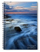 Tropical Sunrise Swirl Spiral Notebook