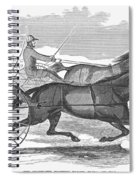 Trotting Horses, 1854 Spiral Notebook