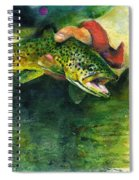 Trout In Hand Spiral Notebook