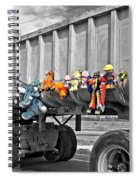 Truck And Dolls With Selective Coloring Spiral Notebook