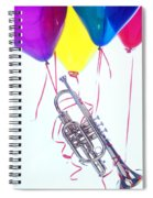 Trumpet Lifted By Balloons Spiral Notebook