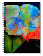 Trumpet With Watercolor Overlay Spiral Notebook