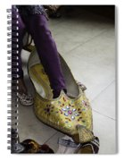 Trying On A Very Large Decorated Shoe Spiral Notebook