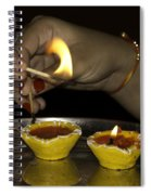 Trying To Light An Oil Lamp That Has Gone Out Spiral Notebook