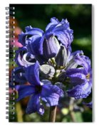 Tube Clematis Blossoms Spiral Notebook