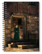 Tudor Lady In Doorway Spiral Notebook