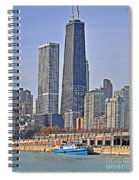 Tugboat On The Chicago River Spiral Notebook