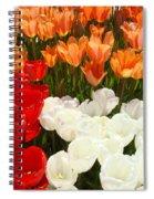 Tulip Flowers Festival Art Prints Floral Baslee Spiral Notebook