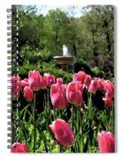 Tulips And Fountain Spiral Notebook