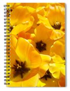 Tulips Art Prints Yellow Tulip Flowers Floral Spiral Notebook