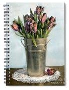 Tulips In Metal Vase Spiral Notebook