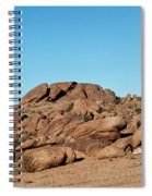 Tumbling Rocks Of Gold Butte Spiral Notebook