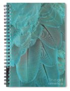 Turquoise Blue Feathers Spiral Notebook
