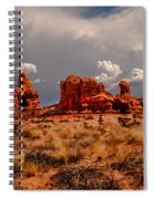 Turret Arch And Storm Clouds Spiral Notebook