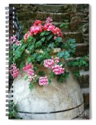 Tuscan Earthenware Pot And Flowers Spiral Notebook