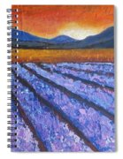 Tuscany Lavender Field Spiral Notebook